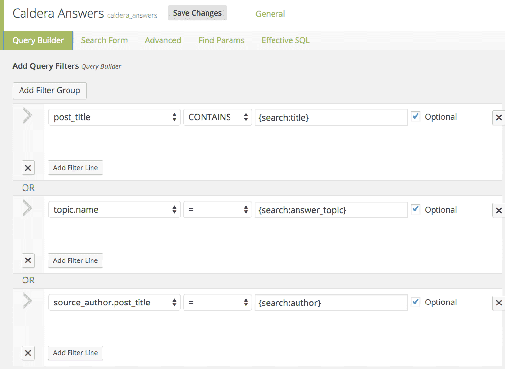 Example of how to use the Caldera Easy pods Query to return results of a search.