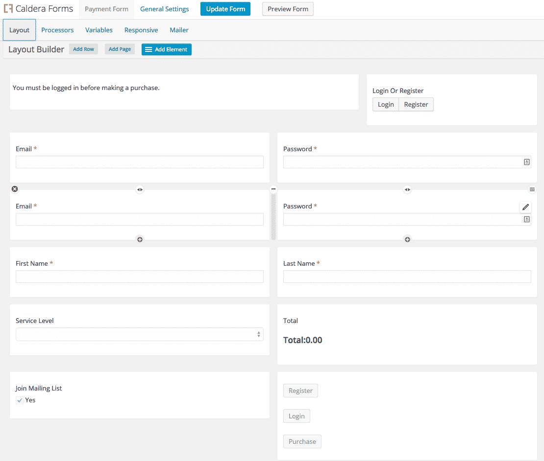 laptop checkout form template