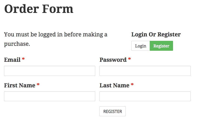 simple ecommerce register wordpress form builder caldera forms