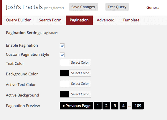 Caldera Easy Queries Pagination Editor