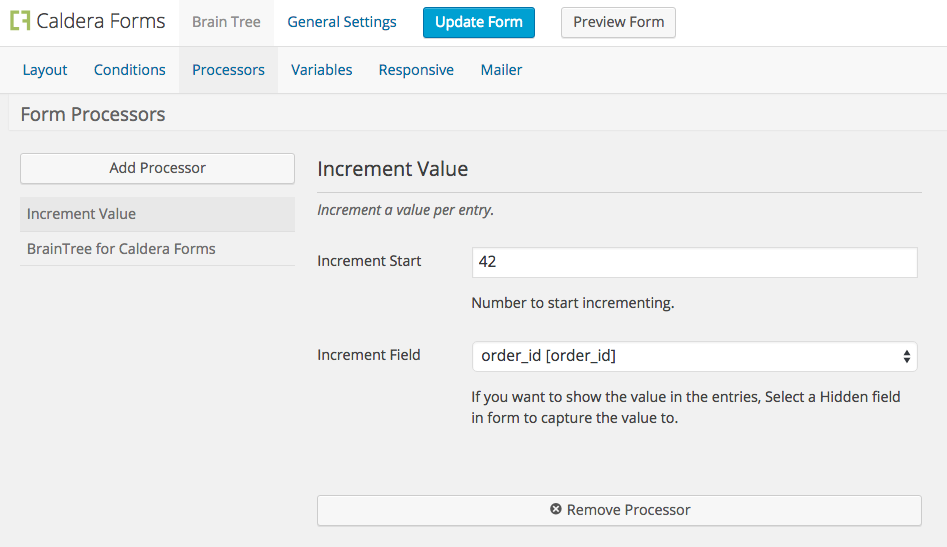 Incremental Value Processor - WordPress Form Builder | Caldera Forms