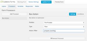 Using Caldera Forms To Execute a filter