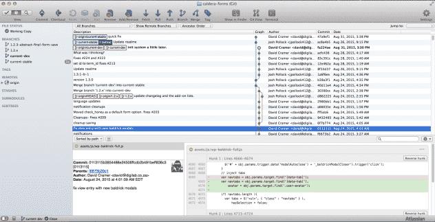 Screenshot of SourceTree Git GUI Tool