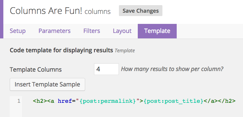 Multi-column Clarity Result Template Controls