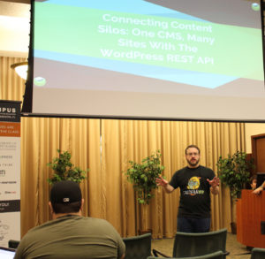 Josh Pollock presenting at WPCampus