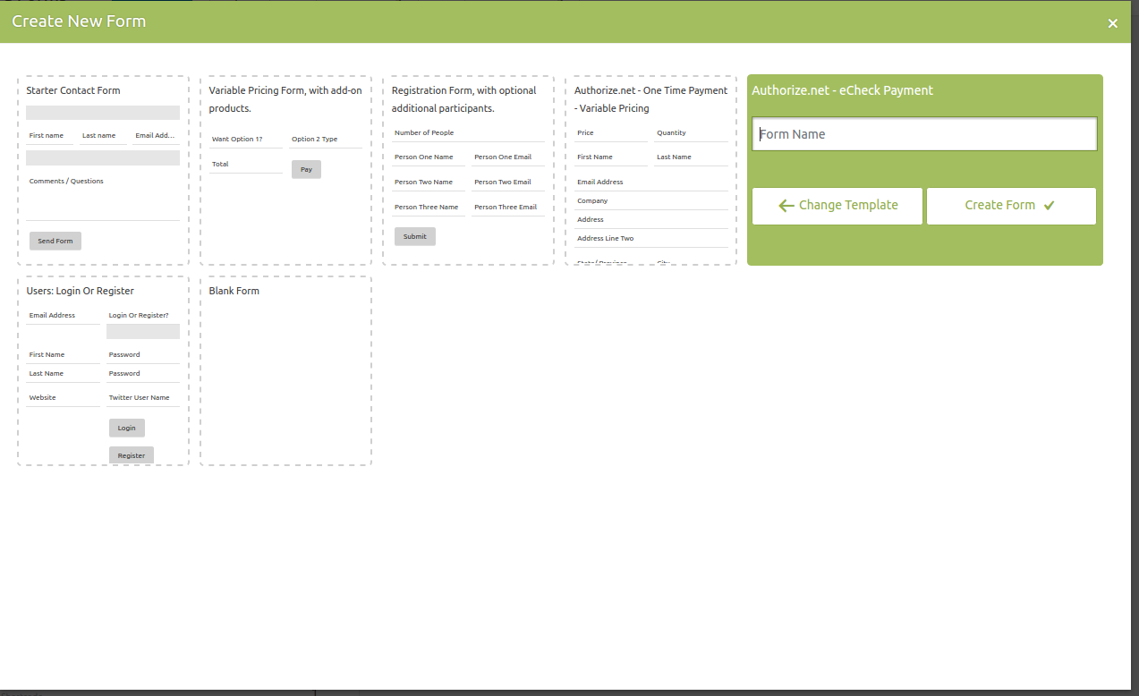 authorize net for caldera forms wordpress form builder caldera forms