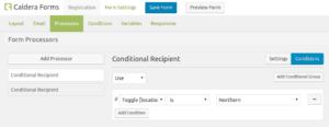 Caldera Forms Conditional Recipients Processor