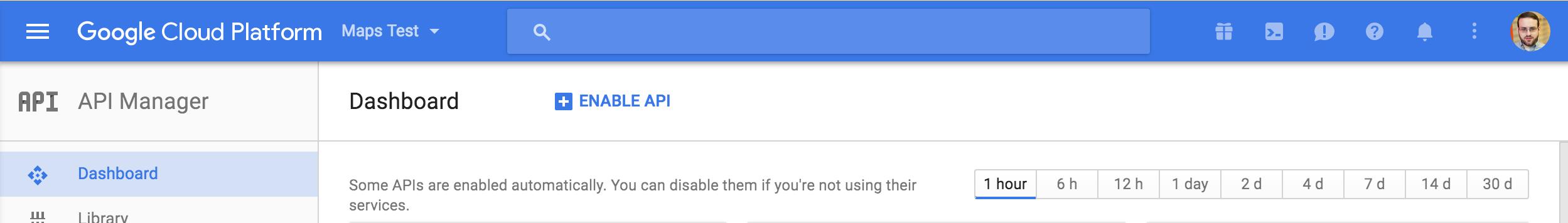 Enable A Google API