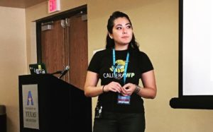 CalderaWP's Christie Chirinos at WordCamp DFW 2016