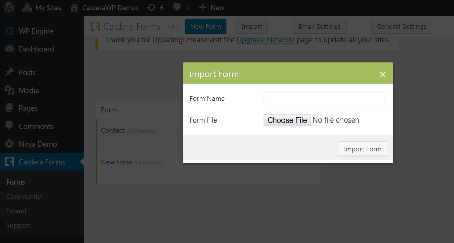 import-json - WordPress Form Builder | Caldera Forms