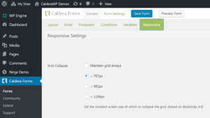 Configuring Caldera Forms Responsive Settings