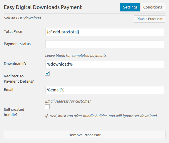 Easy Digital Downloads Payment Processor Form Caldera Forms Setup