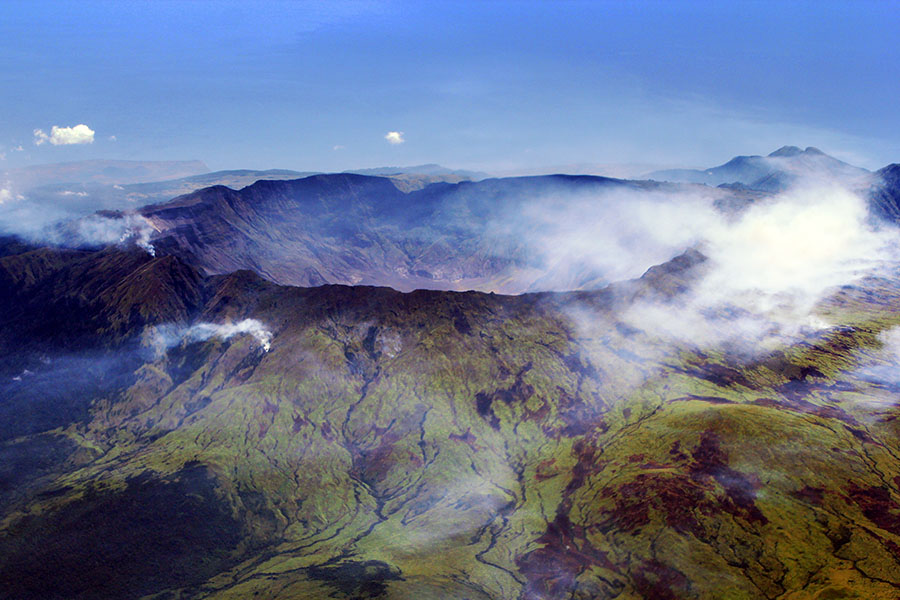 The Caldera of Mt. Tambora Sumbawa