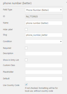 Caldera Forms Phone Number Better Field All Options