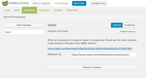 Example of Zapier processor for Caldera Forms.