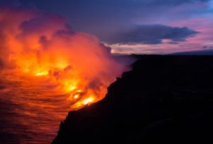 An erupting volcano