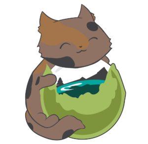 Catdera Mascot hugging Caldera globe logo