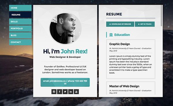 resume website examples to get ideas how to make beauteous resume 6