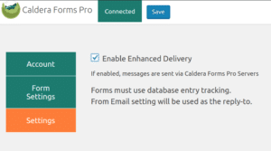 Caldera Forms Pro API Client Settings: Enhanced Email Delivery