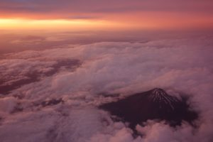 Mount Fiji In The Clouds