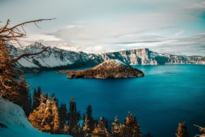 Image of Crater Lake Caldera in Oregon