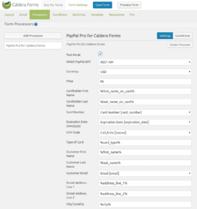 PayPal Pro For Caldera Forms Getting Started - WordPress