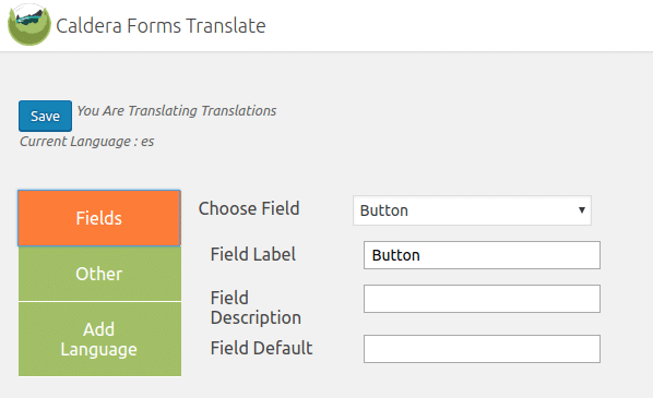 Caldera Forms Translations - Field Translations