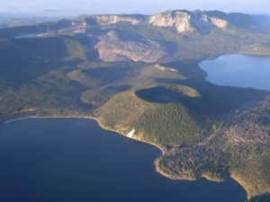 A picture of the Newberry Caldera