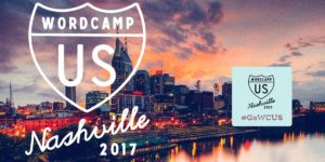Banner for WordCamp US, text reads 'WordCamp US Nashville 2017'