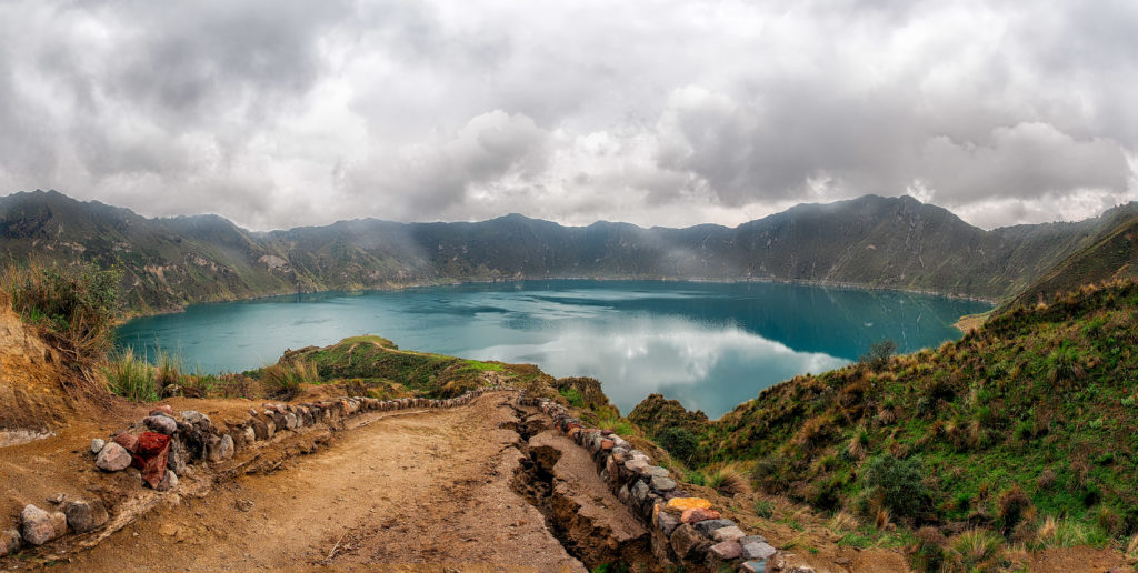 An image of a beautiful Caldera full of crystal blue water