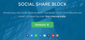 "The words ""Social Share Block"" over a blue background"