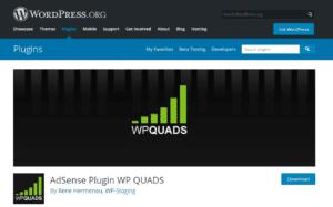 WP Quads page screenshot