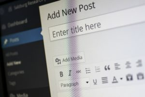 An image showing WordPress screen: Add New Post