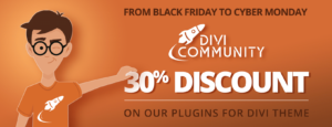 Divi Community Black Friday banner