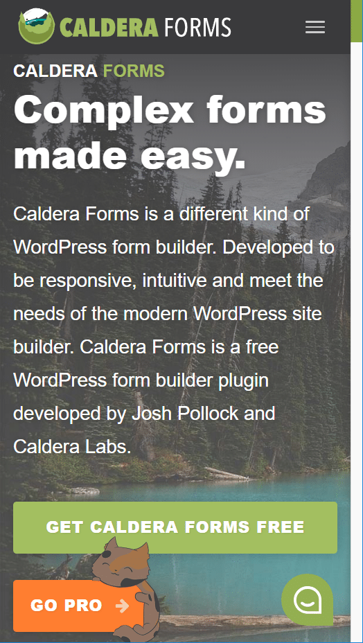 calderaforms.com is mobile-optimized