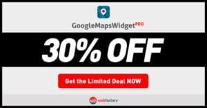 Google Maps Widget Black Friday