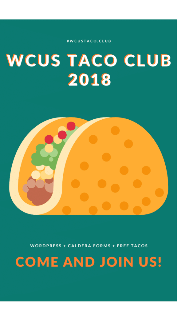 WCUS Taco Club 2018 banner