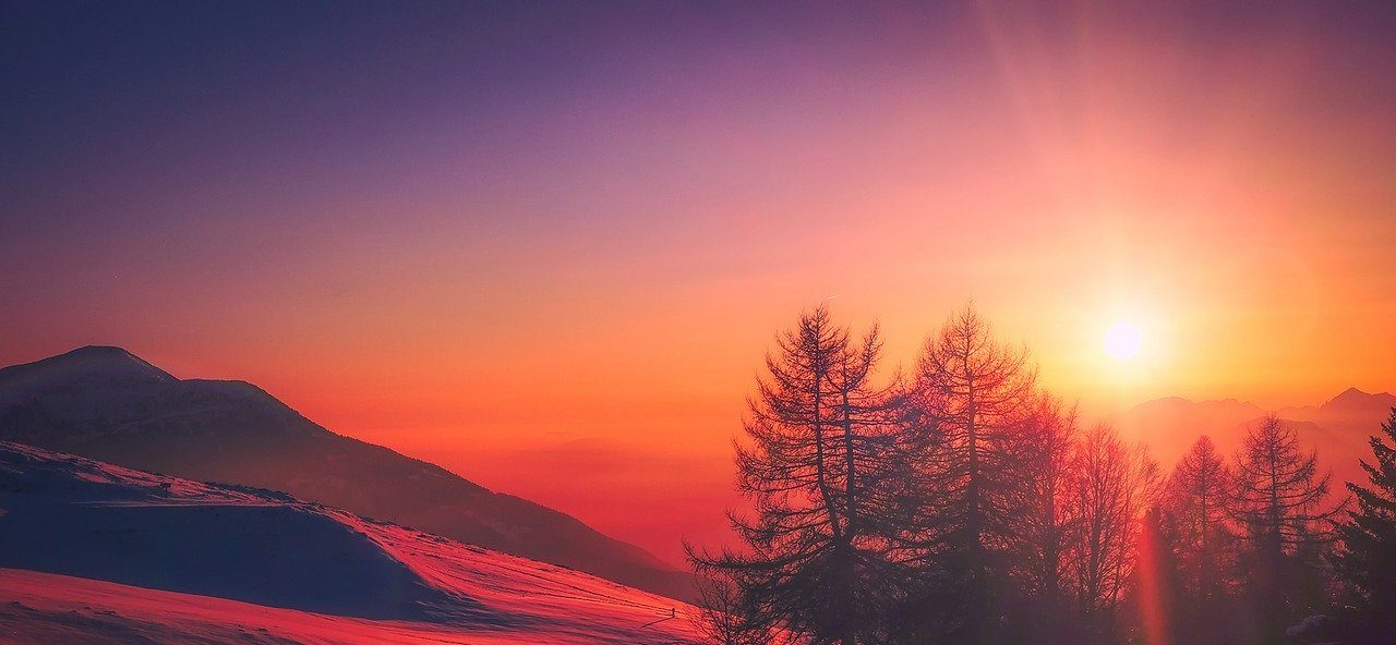mountains and sunrise